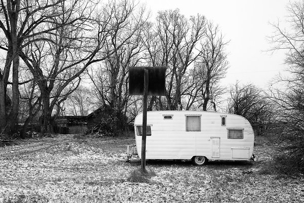 trailer and basketball hoop