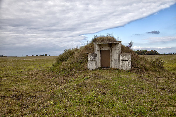 bunker with clouds